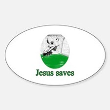 Jesus saves a goal Decal