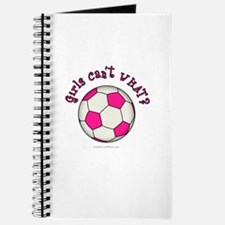 Pink Soccer Ball Journal