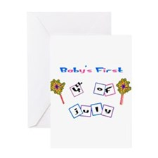 First 4th of July Greeting Card