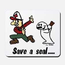 Save a seal, club a Canadian Mousepad