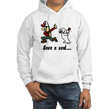Save a seal, club a Canadian Hooded Sweatshirt