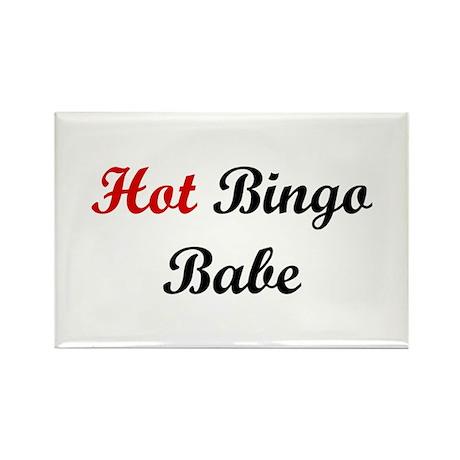 Hot Bingo Babe Rectangle Magnet (10 pack)