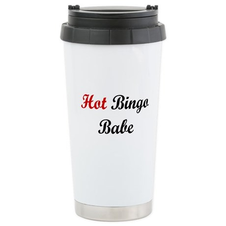 Hot Bingo Babe Stainless Steel Travel Mug