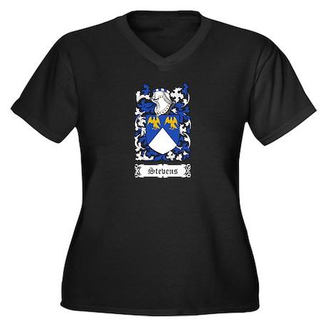 Stevens Women's Plus Size V-Neck Dark T-Shirt