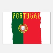 Cute Portugal flag Postcards (Package of 8)