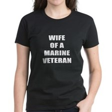 Wife of a Marine Veteran Tee