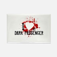 I Heart My Dark Passenger Rectangle Magnet