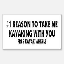 Free Kayak Wheels Decal