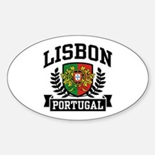 Lisbon Portugal Sticker (Oval)