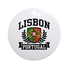 Lisbon Portugal Ornament (Round)