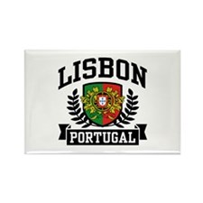 Lisbon Portugal Rectangle Magnet