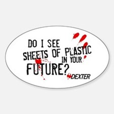 Bloody Sheets of Plastic Sticker (Oval)