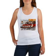old pickup truck vintage anti Women's Tank Top