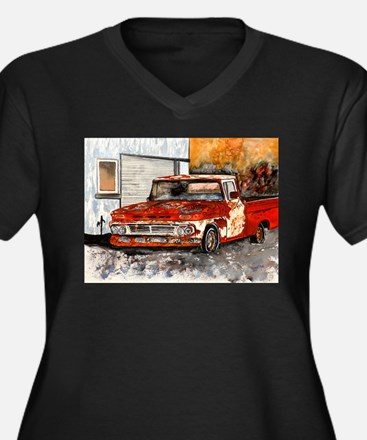 old pickup truck vintage anti Women's Plus Size V-