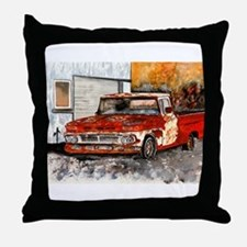 old pickup truck vintage anti Throw Pillow