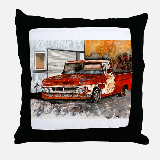 old pickup truck vintage anti Throw Pillow