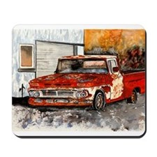 old pickup truck vintage anti Mousepad