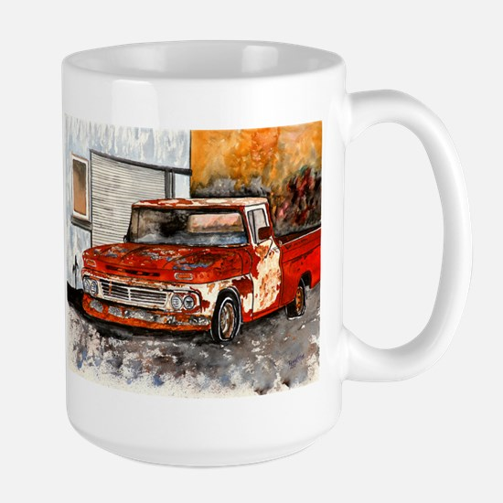 old pickup truck vintage anti Large Mug
