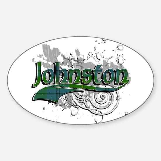 Johnston Tartan Grunge Sticker (Oval)