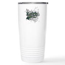 Keith Tartan Grunge Travel Mug