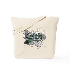 Keith Tartan Grunge Tote Bag