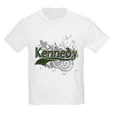 Kennedy Tartan Grunge T-Shirt