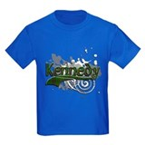 Kennedy clan tartan Kids T-shirts (Dark)