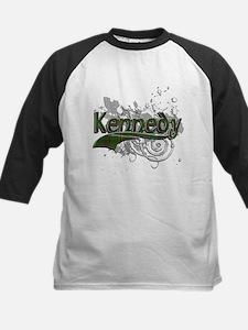Kennedy Tartan Grunge Kids Baseball Jersey