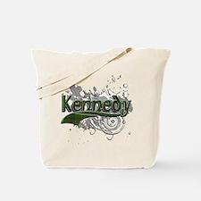 Kennedy Tartan Grunge Tote Bag