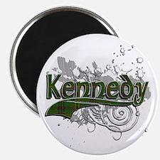 Kennedy Tartan Grunge Magnet