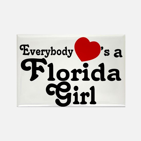 Everybody Hearts a FL Girl Rectangle Magnet