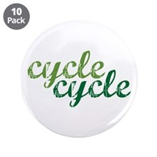 "Recycle 3.5"" Button (10 pack)"