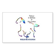 Wild Mustangs Rectangle Decal