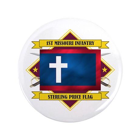 """1st Missouri Infantry 3.5"""" Button"""
