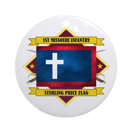 1st Missouri Infantry Ornament (Round)