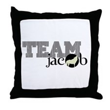 Team Jacob Howling Wolf Throw Pillow
