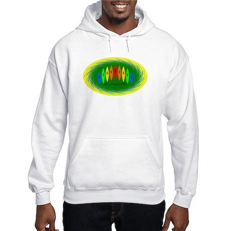 Rainbow Kayaks (Green) Hooded Sweatshirt