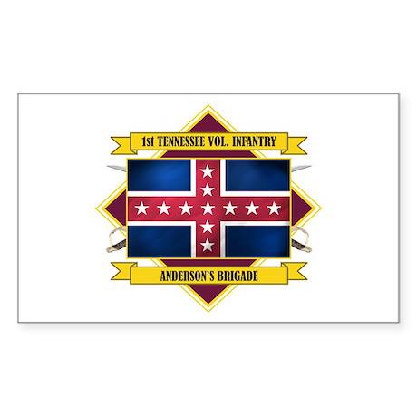 1st Tenn Volunteer Infantry Sticker (Rectangle)