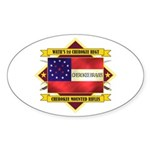 1st Cherokee Regiment Sticker (Oval)