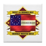 1st Cherokee Regiment Tile Coaster