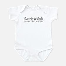 Choose Your Weapon Infant Bodysuit