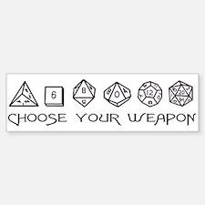 Choose Your Weapon Sticker (Bumper)