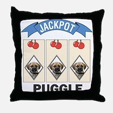Jackpot Puggle Throw Pillow