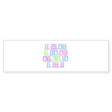 Twilight Saga Movie Dates Fad Sticker (Bumper)
