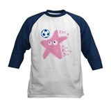 Pink fluffy star Baseball Jersey