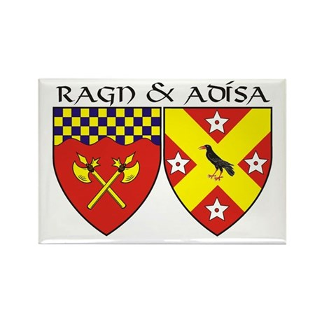 Ragn and Adisa Rectangle Magnet