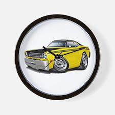 Duster 340 Yellow Car Wall Clock