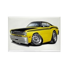 Duster 340 Yellow Car Rectangle Magnet