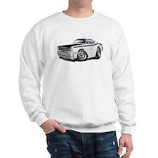 Duster 340 White Car Sweatshirt
