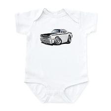Duster 340 White Car Infant Bodysuit